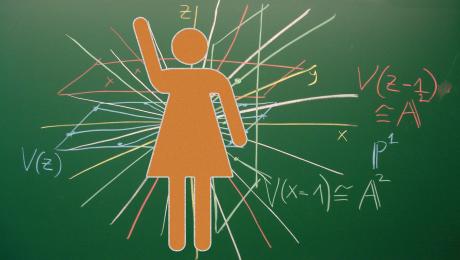 femme science tableau