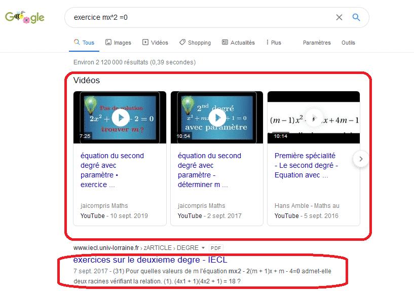correction sur google