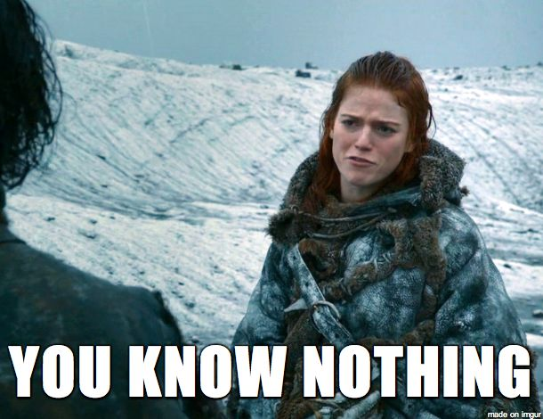 tu ne sais rien john snow.