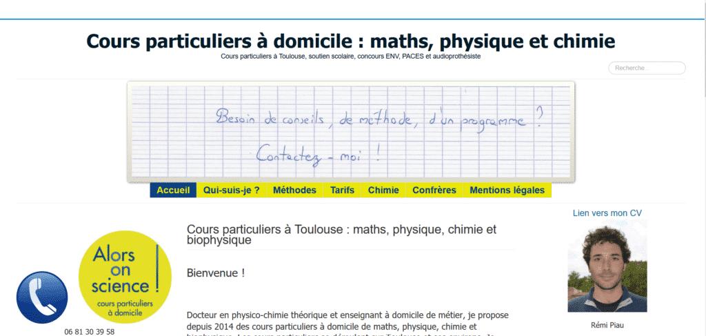 cours particuliers à domicile maths physique alorsonscience