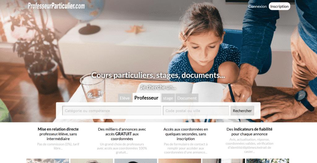 site web professeurparticulier.com