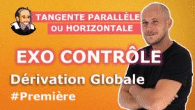 controle derivation globale tangente parallele horizontale