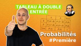 remplir tableau probabilité premiere